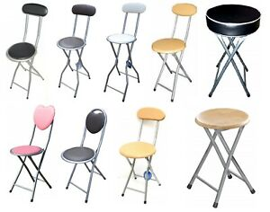 Childrens Junior Folding Chair High Bar Breakfast Stool Kitchen Home Party Seat