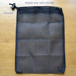 A1 FILTER BAG 2 OUTLET PIPE SMALL VAC WITH TOGGLE - POND -15CM x 20CM £3.75  F/P