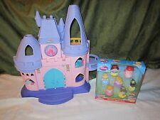 Fisher Price little people Princess palace castle NEW 7 Pack Cinderella Snow lot