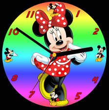 Minnie Mouse CD Clock, free stand can be personalised