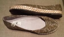 Bearpaw Brown Leopard Canvas Flats US 7 M