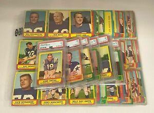 1963 Topps Football Complete Set w/ (8) PSA Graded Cards Unitas Nitschke +