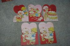 5 Strawberry Shortcake Vintage Valentines