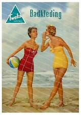 Badkleding  Vintage Dutch advertising poster reproduction.
