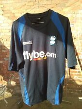 BIRMINGHAM CITY FOOTBALL CLUB FLYBE.COM LONSDALE BLACK & BLUE TRAINING TOP S VGC