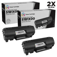 LD Compatible Lexmark 51B1X00 Extra High Yield Black Toner Cartridges 2-Pack