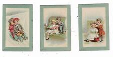 Three Trade Cards Blue Ridge Household Chemicals Marshall Chemical Co VA Lye Oil