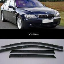For BMW 7 Sedan E65 2001-2008 Side Window Visors Sun Guard Vent Deflectors