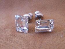 Silver Deer HYPOALLERGENIC Stud Earrings  Swarovski Elements Crystal in CLEAR