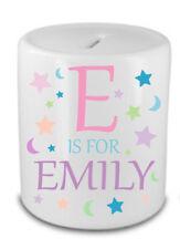 Personalised Name Savings bank Money Box Gift Birthday Present Idea Girl Girly