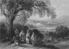 ISRAEL. Vale of Nazareth-Bartlett 1847 old antique vintage print picture