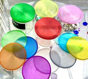 8 - 12 -16 pack OUI Yogurt Jar lids TRANSLUCENT UNIQUE MULTICOLOR 🦋   FREE SHIP