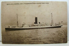 Steamship Postcard: RMS HILDEBRAND, Booth Line, Liverpool, Unposted