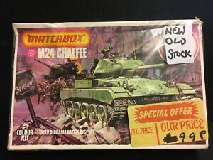 Matchbox  1/76 Scale WWII US M24 Chaffee Tank with Diorama model kit no.40079