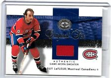 GUY LAFLEUR 2001 FLEER GREATS OF THE GAME ORIGINAL SIX GAME USED JERSEY