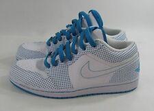 338145-141 Mens Air Jordan 1 Phat Low White Laser Blue Polka Dot Size 9.5