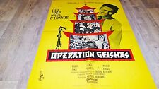 OPERATION GEISHAS  ! affiche cinema vintage espionnage 1961