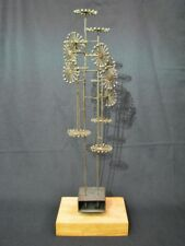 Vintage Joseph Burlini Contempory Kinetic Sculpture with Pinwheel Design