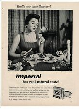 "PRETTY WOMAN IMPERIAL MARGARINE Vintage 1950's 8"" X 11.25"" Magazine Ad B8"