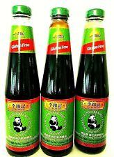 Lee Kum Kee Panda Brand Oyster Flavored Sauce Gluten/Fat Free 18 oz ( Pack of 3