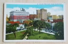Linen postcard, City skyline viewed from the Courthouse in Toledo, Ohio