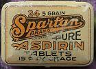 Antique Vintage Spartan Aspirin Tin 1930s