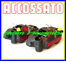 Kit 2 pinze freno radiali AG ACCOSSATO RACING forgiate SX+DX 108mm. (AGPZ04)