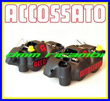 Kit 2 pinze freno radiali AG ACCOSSATO RACING forgiate SX+DX 108mm. (AGPZ04)