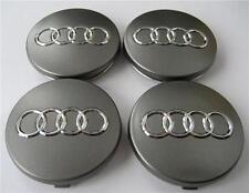 (4) 1998-2012 Audi Gray 60mm Center Caps Fits: A3 A4 A6 A8 TT RS6