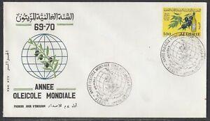 Algeria Scott 442 FDC - 1970 Olive Year