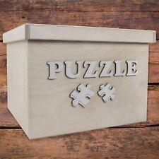 Large Square Storage Box With Removable Lid / 29x29x21 cm/ 'PUZZLE' Bolt Letters