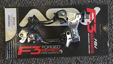 ASV F3 Brake Clutch Lever Set Black Hot Short Honda CRF150R CRF250R CRF450R