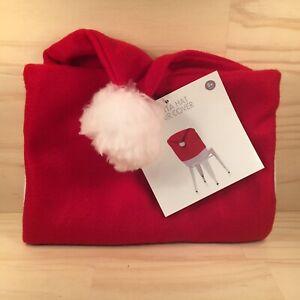 "SANTA HAT ""Red"" Beautiful Plush Christmas Chair Cover Soft Festive Decoration"