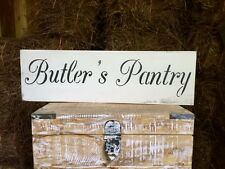 "Large Rustic Wood Sign - ""Butler's Pantry"" - Vintage, Distressed, Kitchen Decor"