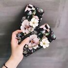 Fashion Cute Flower Metal Pendant Hard Matte Case Cover For iPhone 6 6s 7 Plus