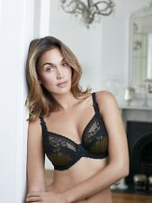 Charnos Bridgette Full Cup Bra in Black and Gold 164404 32 F