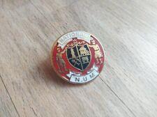 Vintage NUM National Union Of Mineworkers enamel metal badge, miners, attractive