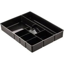 Deep Desk Drawer Organizer Tray, 9-Comp, Black