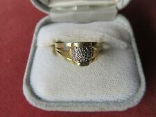 OLD VINTAGE 14CT GOLD  DIAMOND  RING