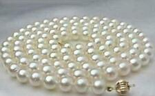 genuine AAA 8-9mm south sea white pearl necklace 34 INCH