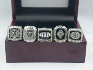 5 Pcs 1967 1976 1980 2002 2014 Oakland Raiders World Championship Ring ---!!
