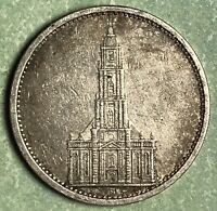 1935 German 5 Reich Silver Coin, Free Shipping