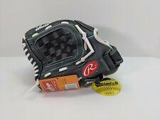 "Rawlings Fastpitch Left Hand Throw Softball Baseball Glove 11.5"" Black/Teal  NEW"