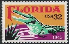 Scott 2950- Florida Statehood, Alligator- MNH 32c 1995- unused mint stamp
