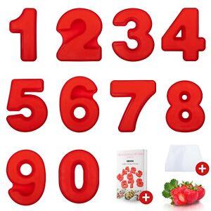 Zahlenbackform - Hitzebeständige Silikon Kuchenform Zahl 5 - Incl Ebook