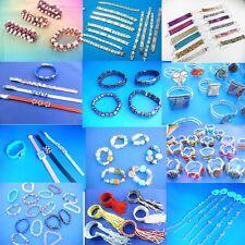 US SELLER-50 cents / bracelet, lot of 100 bracelets  bangles wholesale jewelry l