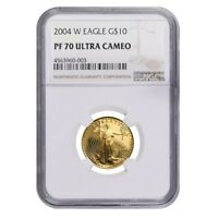 2004 W 1/4 oz $10 Proof Gold American Eagle NGC PF 70 UCAM