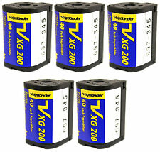 5 Rolls of Voigtlander VXG APS 200 40 Films ISO 200 Cold Stored 100% Guarantee!!