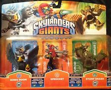Skylanders Giants a Sprocket Stump Smash Jet Vac 3 Pack