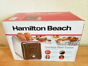 Hamilton Beach Extra Wide Toaster, Two Slice, Stainless Steel And Black